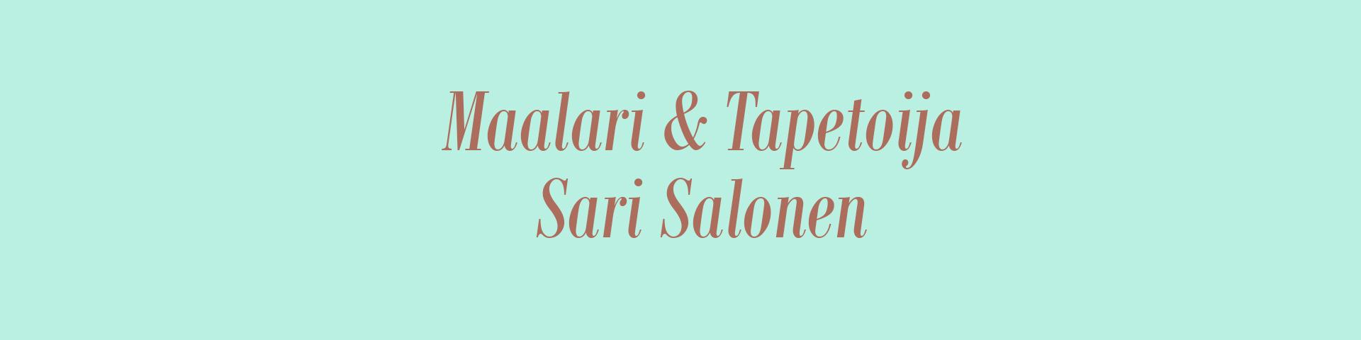 Maalari-tapetoija Sari Salonen